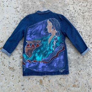 Handpainted Jean Jacket (Blazer)